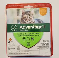 New listing New Bayer Advantage Ii Small Cat 4 Monthly Doses 5-9lbs