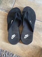 B62 Nike Flip Flops Womens Sz 6 Black White thong Sandals  * Celso Thong