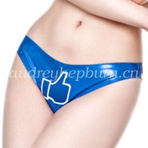 100% New Latex Rubber Women Sexy Cute Underwear Shorts Size S-XXL