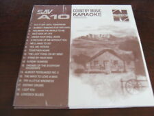 NUTECH KARAOKE  DISC COUNTRY SAV A10 CD+G SEALED 19 TRACKS