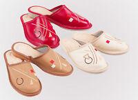 Women`s/Ladie`s handmade Leather slippers sizes UK 3,4,5,6,7,8
