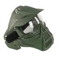 Full Face Protective Goggles Mask Tactical Military Game Paintball Airsoft Green