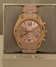 Michael Kors Bradshaw Rose Gold Pink Silicone Watch MK6579