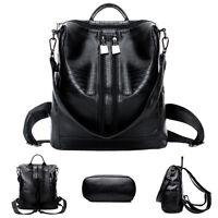 Damen Mädchen Leder PU Taschen Rucksack Reiserucksack Schultasche Schultertasche