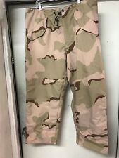 Desert Camo Gor-tex Gortex Waterproof  Pants medium short US GI ECWCS