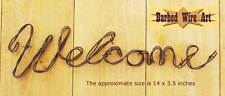 Welcome Sign - handmade metal decor barbed wire art country wall sculpture