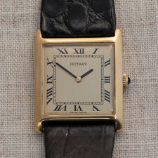 Vintage ROTARY Tank dress watch - 1970s - Gold plated - Swiss made - ETA 2512