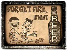 CAVEMAN BEER funny METAL SIGN great gift mancave vintage style wall decor 254