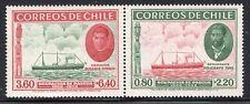CHILE 1940 PAIR STAMP # 266/5 MH SHIP EASTER ISLAND ISLA DE PASCUA #2