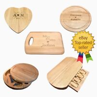 Personalised Wooden Cheeseboard Chopping Board Serving Set Wood Cutting Block