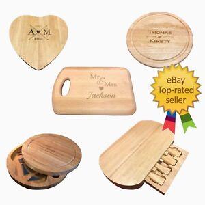 Wood Cheeseboard / Personalised Chopping Board Serving Set Wood Cutting Block