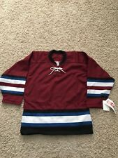 CCM Hockey Jersey Blank Colorado Avalanche Sz Small NWT