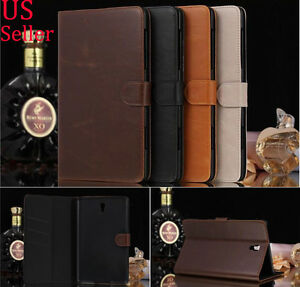 Luxury Real Flip Case Wallet Cover All for Samsung Galaxy Tab Tablet