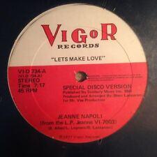 """Jeanne Napoli """"Lets Make Love"""" 1977 Vigor Records SEALED!! Disco Classic"""