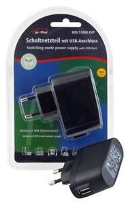 Universal Reisenetzteil mit 5 Volt USB Anschluss 1000 mA - Handyladegerät