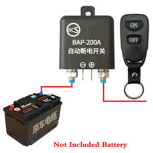 Battery Kill Switch Disconnect Isolator Power Cut OFF Wireless Remote For Car