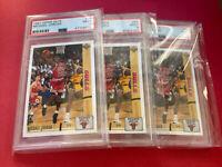 (3) Card Lot 1991-92 Upper Deck #44 Michael Jordan PSA 9 Graded 91-92 Bulls