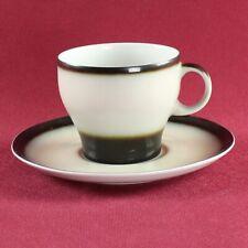 Arzberg Bavaria Form Delta rotrand roter Rand Kaffeetasse 7 x 7 cm