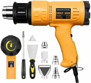 Professional Heat Gun kit with 7 accessories DIY, Stripping Paint, Shrinking PVC