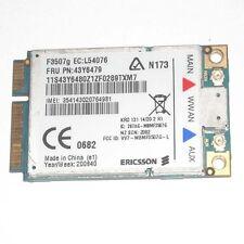 Ericsson IBM Lenovo F3507G 43y6513 43y6537 43Y6479 60Y3205 3G HSPA WWAN Card GPS