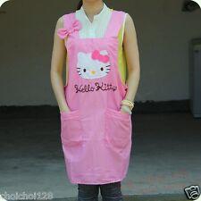 Hello Kitty Pink Bow 2 Pocket Kitchen Cooking Gardening Cotton Apron KK245