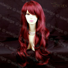 Wonderful Beautiful Layered Wavy Burgundy Mix Red Long Ladies Wig From WIWIGS UK