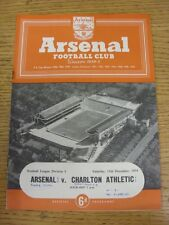11/12/1954 Arsenal v Charlton Athletic  (Neat Match Details Noted On Cover/Insid