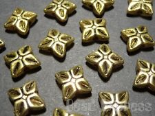 30pc Tibetan Silver Gold Plated Leaf Design Flower Metal Spacer Beads 7mm (T043)