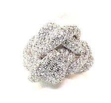 Designer Pave diamond 2.68 tcw Ring 18kw Gold size 6.25