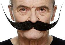 High quality Large Dali black false, self adhesive mustache
