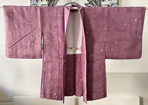Kimono, Kimonojacke, Haori, Japan, rot, Polyester, handgenäht