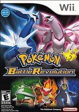 POKEMON BATTLE REVOLUTION - NINTENDO Wii COMPLETE Game Manual Case