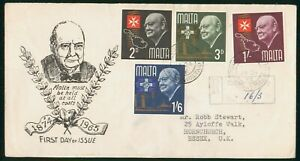 Mayfairstamps Malta FDC 1964 Winston Churchill Combo First Day Cover wwp_76823