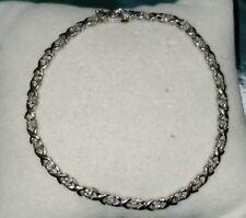 $550 Kay Jewelers 10k White gold Diamond XO hug kisses style Tennis Bracelet new
