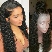 Pre Plucked Natural 360 Lace Front Wig Glueless Brazilian Human Hair Water Wave
