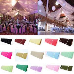 "54""x 120ft (40Yards) Soft Wedding Tulle Roll Bolt Party Bridal Tutu Dress Fabric"