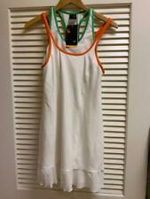 NWT Nike White Tennis Dress with Orange and Green Trim and White Rufflel Size Me