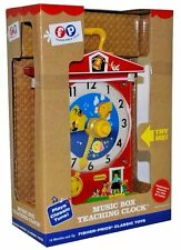 Fisher-Price Music Box TEACHING CLOCK Toy Preschool FP Super Sale! Brand New NIB