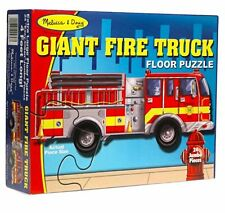 Melissa & Doug - Giant Firetruck Floor Puzzle 24 Pieces