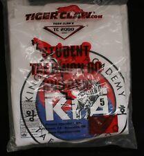 Tiger Claw Tc 2000 Series Student Tae Kwon Do Uniform Adult 5 White New Nip 3pc