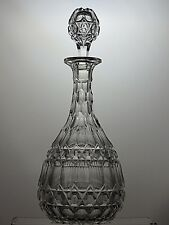 "ANTIQUE CUT GLASS CRYSTAL VERY UNIQUE VICTORIAN DECANTER,  C-1860-13 1/2""( 34CM)"