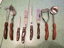 CUTCO 8 pc Vintage Kitchen Knife & Utensil Set 1022 1023 1021 1028 As Is
