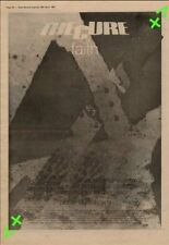 Cure The Faith Tour Advert NME Cutting 1981