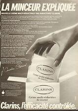 """Publicité Advertising 1983  CLARINS crème multi-réductrice """"bio-suractivée"""""""