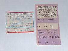 2 sí CONCIERTO BILLETES Greek Theatre Berkeley 9-21-84 VACA Palacio SF 3-30-84