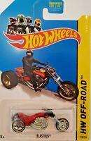 2014 Hot Wheels #128 HW Off-Road HW Moto BLASTOUS Red w/Black OH5 Spoke Gold Rim