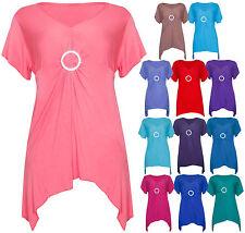 Damen-Shirts mit V-Ausschnitt und Stretch