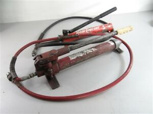 LOT OF 2 HYDRAULIC PORTAPOWER TYPE HAND PUMPS ENERPAC & HERN *READ DESCRIPTION*