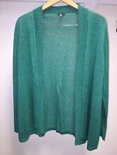 Talbots Green Christmas Long Sleeve Knit Wool Sweater Cardigan Womens Size X