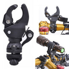 360° Rotation Cycling Bike Mount Holder Bracket for Flashlight Torch Clip Clamp